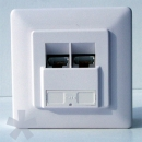 Gigabit Full Shielded Network Plug Wallmount / 2x RJ45 10/100/1000 Mbit socket