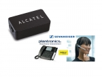 ALCATEL Temporis IP Wireless Headset Adapter, EHS Adapter for Plantronics and Jabra DECT Headset