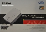 Edimax 200Mbit Powerline mit 3 Lan Ports (eingebauter Switch), HomePlug AV, QoS