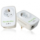 Hercules ePlug Nano 200 Pass Thru Duo, 200 Mbits/s HomePlug AV, Built-in additional electric